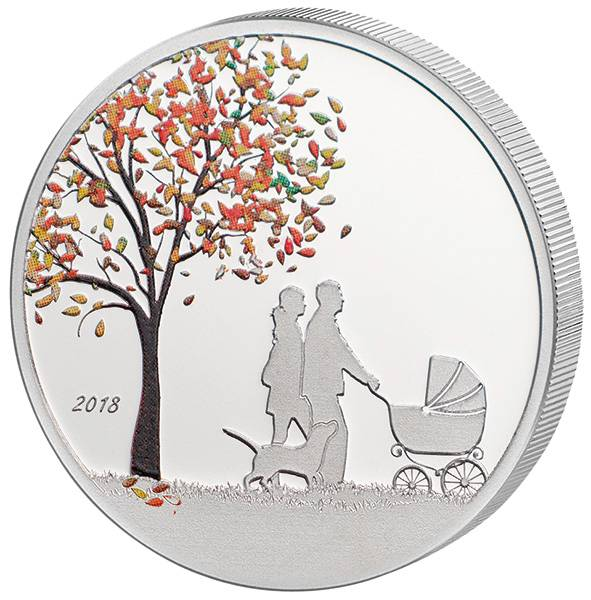 1 Dollar Cook-Inseln Indian Summer Globe Coin 2018 - FOTOMUSTER