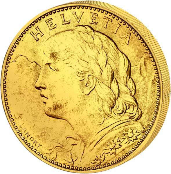 10 Franken Schweiz Vreneli 1912-1922 vz-st