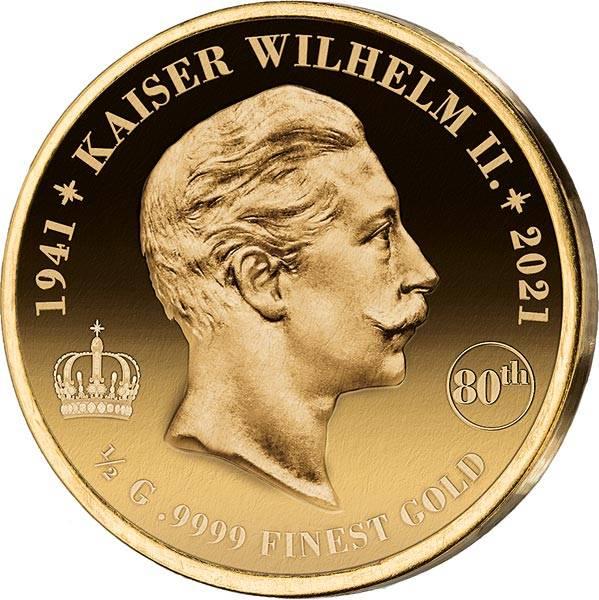 100 Francs Elfenbeinküste 80. Todestag Kaiser Wilhelm II. 2021
