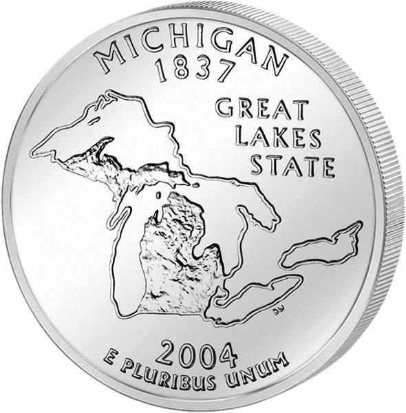 Quarter Dollar USA Michigan 2004