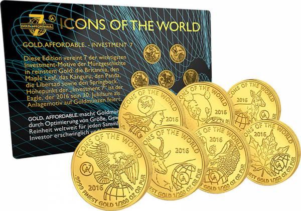 7 x 10 Francs Ruanda Icons of the World