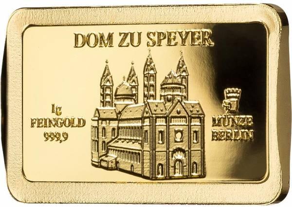 1 Gramm Goldbarren Deutsche Wahrzeichen Dom zu Speyer