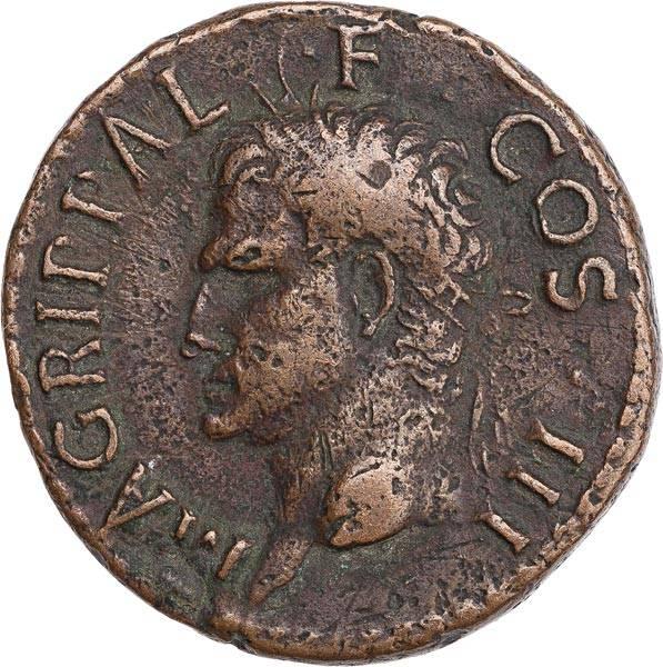 As Römisches Kaiserreich Feldherr Agrippa 63-12 v. Chr.