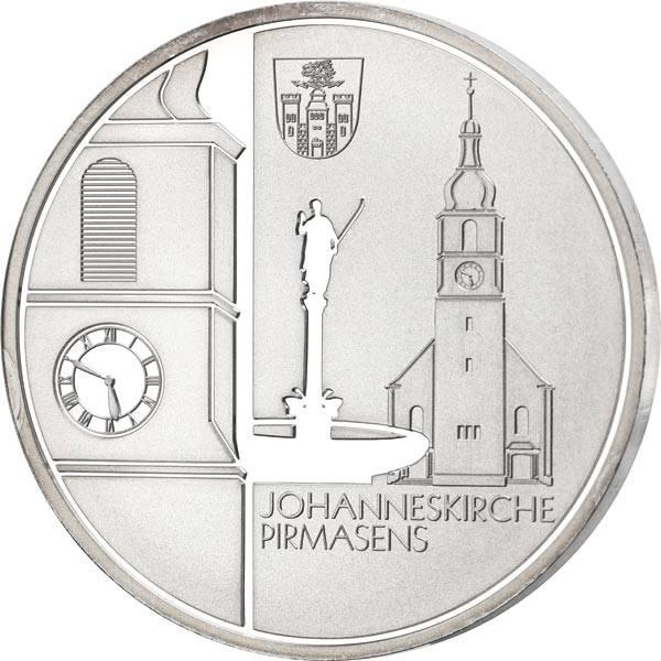 Gedenkprägung Johanneskirche Pirmasens 2013