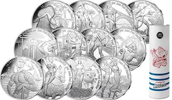 12 x 10 Euro Frankreich Jean-Paul Gaultier 2017