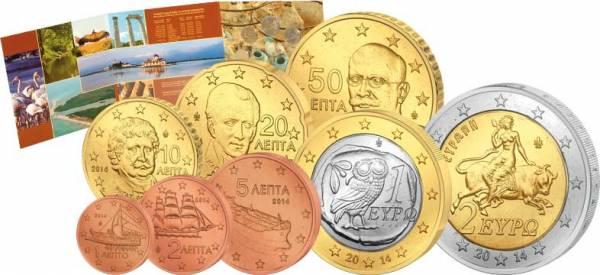Euro-Kursmünzensatz Griechenland 2014