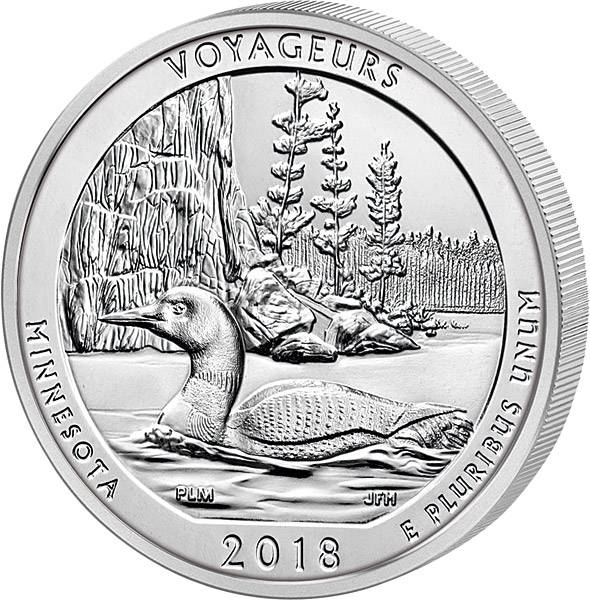 Quarter Dollar 25 Cents USA Minnesota Voyageurs National Park 2018