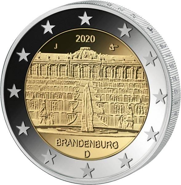 2 Euro BRD Brandenburg Sanssouci 2020