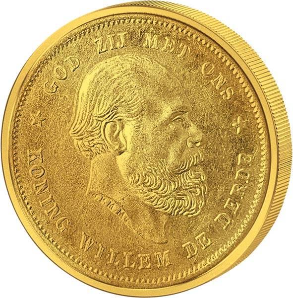 10 Gulden Niederlande König Wilhelm III. 1875-1889