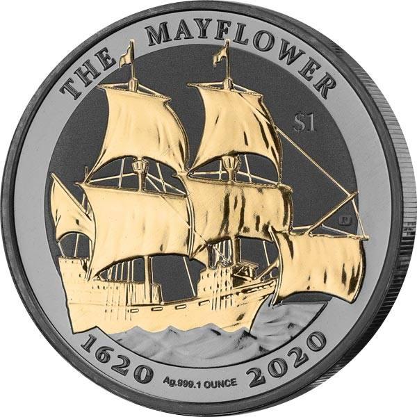 1 Unze Silber Jungferninseln Mayflower 2020