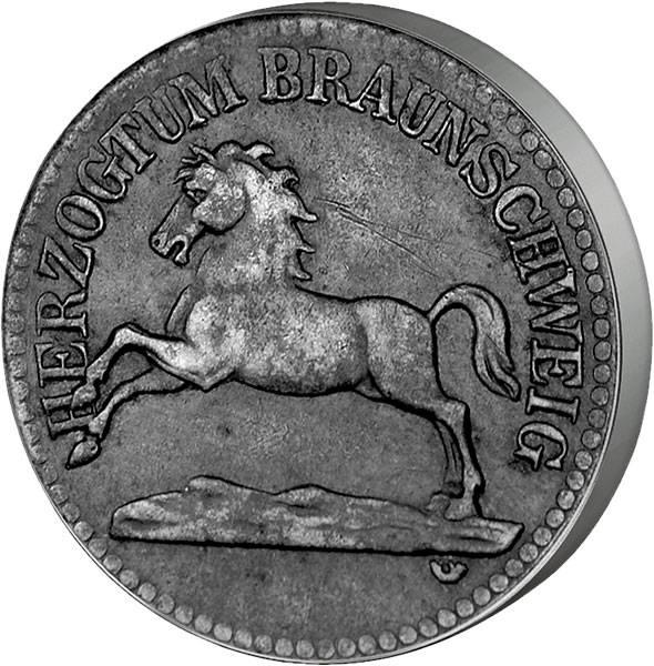 5 Pfennig Braunschweig Niedersachsenroß 1918 Sehr schön