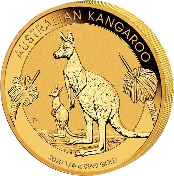 1/4 Unze Gold Australien Känguru 2020