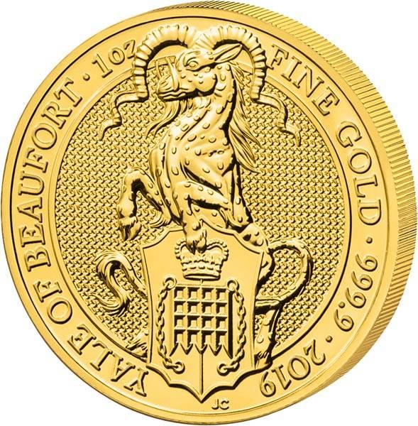1 Unze Gold Großbritannien Queens Beasts Yale von Beaufort 2019