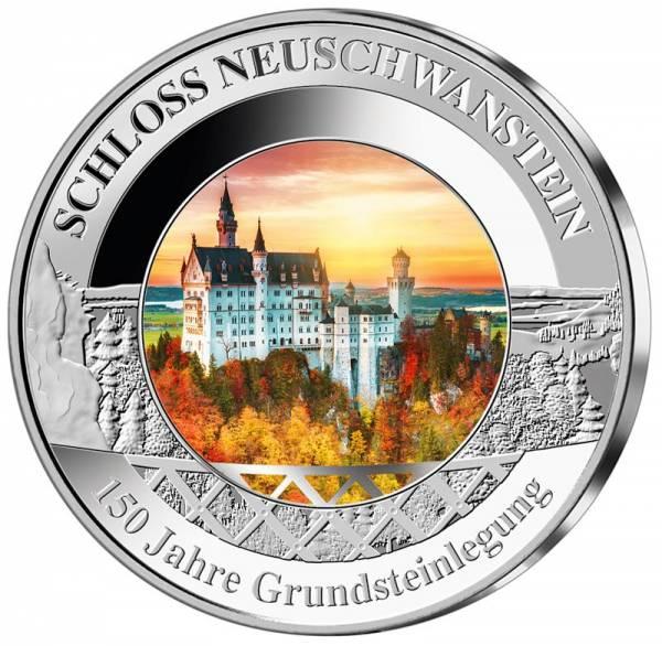 Gedenkprägung Schloss Neuschwanstein 2019