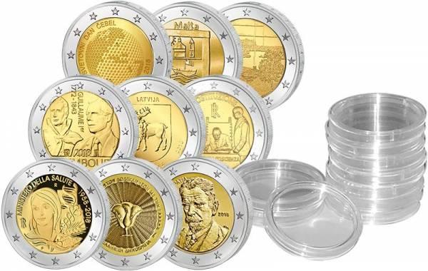 9 x 2 Euro Jahrgangsset 2018