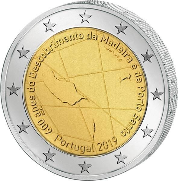 2 Euro Portugal 600 Jahre Entdeckung der Insel Madeira 2019