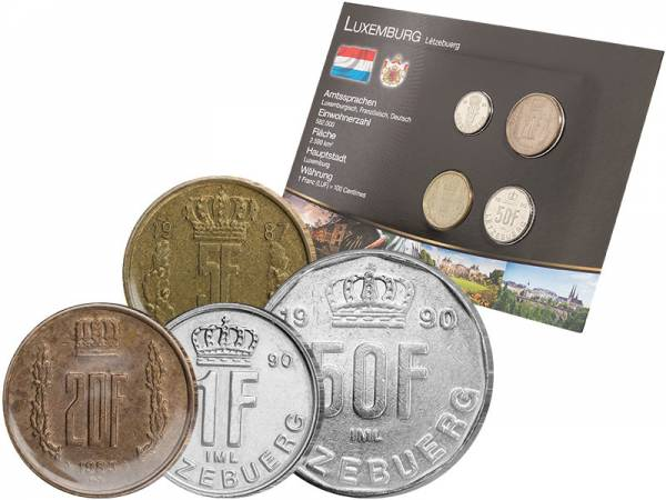 Premium-Kursmünzensatz Luxemburg 1980-1995