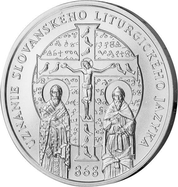10 Euro Slowakei 1150. Jahrestag Anerkennung slawische liturgische Sprache 2018