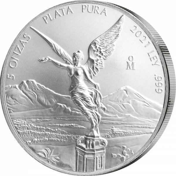 5 Unzen Silber Mexiko Libertad 2021