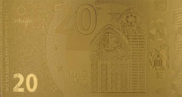 20 Euro BRD Goldfolien-Banknote