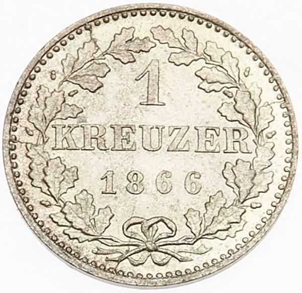 1 Kreuzer Freie Reichsstadt Frankfurt 1859-1866