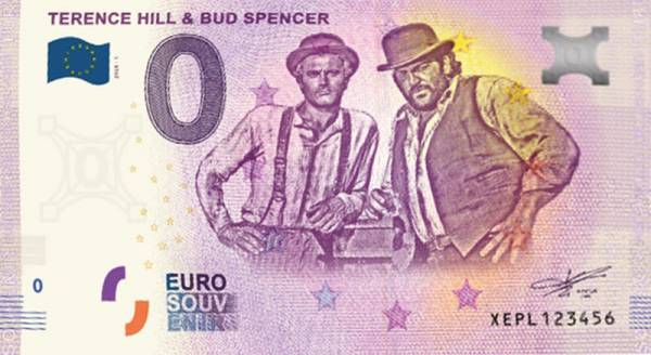 0-Euro-Banknote Terence Hill & Bud Spencer 2020
