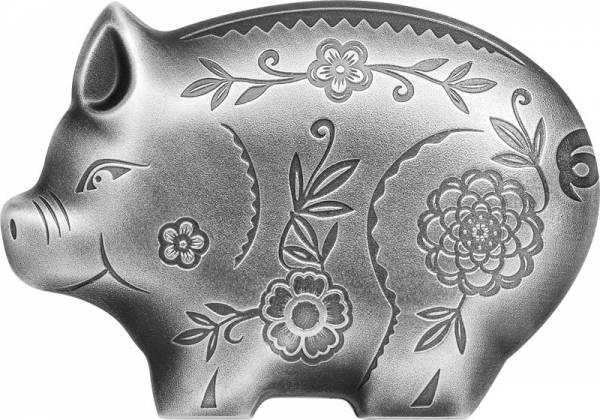 1.000 Togrog Mongolei Schwein 2019