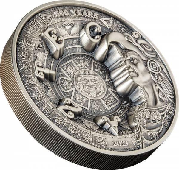 1 Kilo Silber Samoa Aztekenkalender 2021