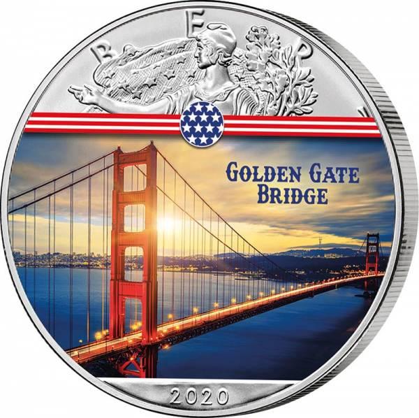 1 Dollar USA Golden Gate Bridge 2020