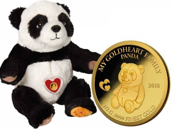 10 Dollar Salomonen My Goldheart Family Panda 2018