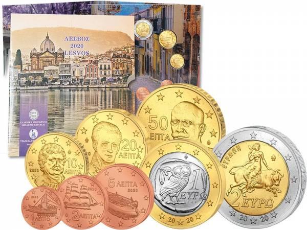 Euro-Kursmünzensatz Griechenland Lesbos 2020