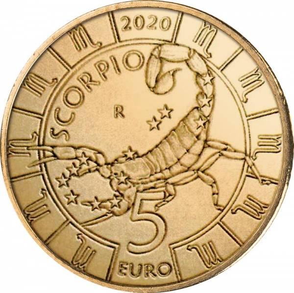 5 Euro San Marino Tierkreiszeichen Skorpion 2020