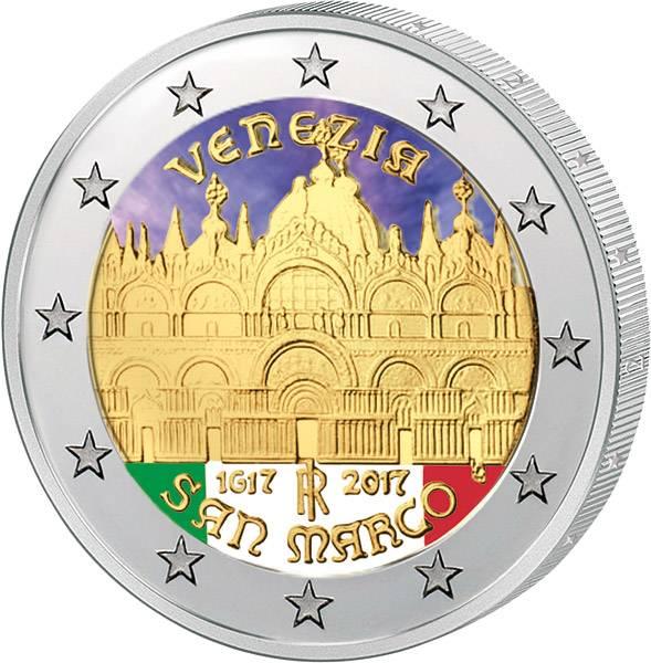 2 Euro Italien 400. Jahrestag der Fertigstellung der Basilica 2017 mit Farb-Applikation