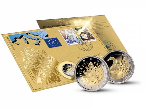 2 Euro Numisbrief Vatikan Heilige Weihnacht 2018