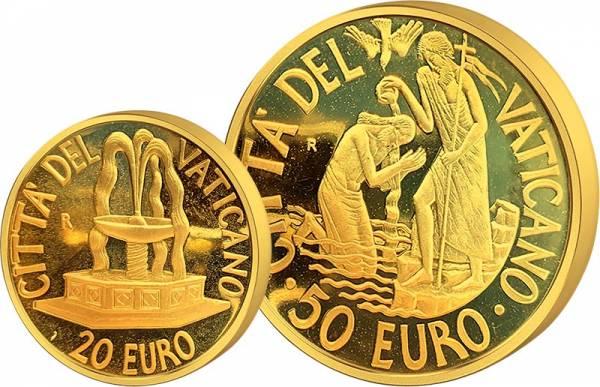 20 + 50 Euro Vatikan Papst Benedikt XVI. Sakrament der Taufe 2005