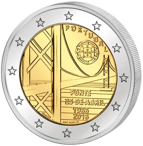 2 Euro Portugal 50 Jahre Brücke des 25. April