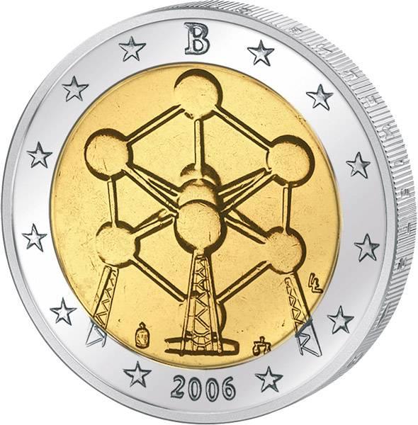 2 Euro Belgien Atomium Brüssel 2006