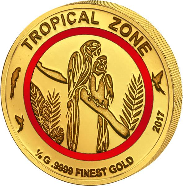 3.000 Francs Tschad Papagei Tropische Zone 2017