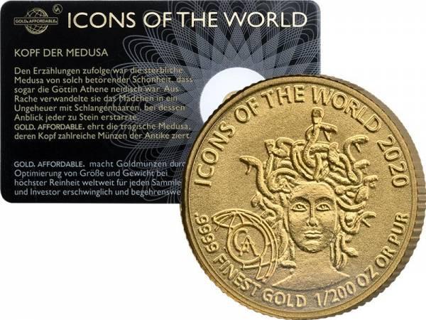 1/200 Unze Gold Ruanda Medusa 2020