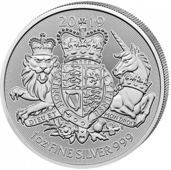 1 Unze Silber Großbritannien Royal Arms 2019