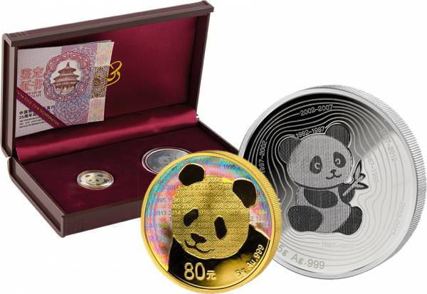 "Jubiläums-Set China ""35 Jahre Panda"" 2017"