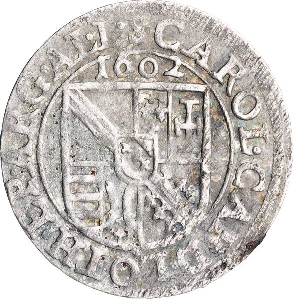 3 Kreuzer Straßburg Bischof Karl von Lothringen 1601-1607