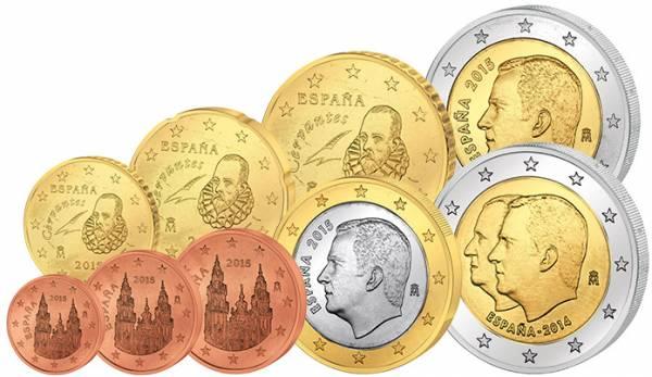 Euro-Kursmünzensatz Spanien 2015 inklusive 2-Euro-Gedenkmünze