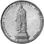 Taler Geschichtsdoppeltaler Ludwig I 1840  Vorzüglich