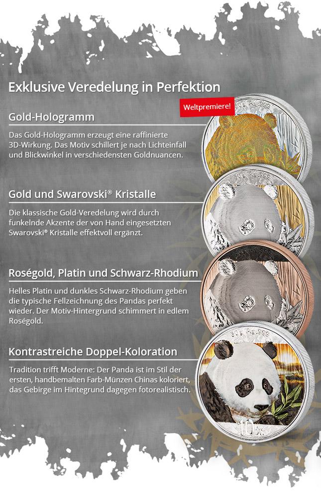 Silver Investment Coin Prestige Set Panda 2018 China Asiatische
