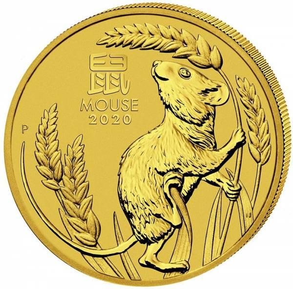 1/2 Unze Gold Australien Jahr der Maus 2020