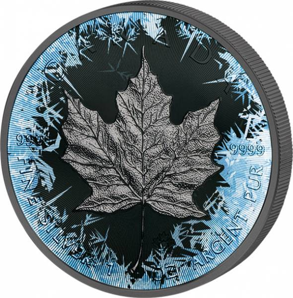 1 Unze Kanada Deep Frozen Edition Maple Leaf