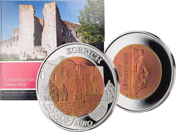 5 Euro Luxemburg Schloss Koerich 2018