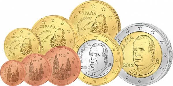 Euro-Kursmünzensatz Spanien JuW Stempelglanz