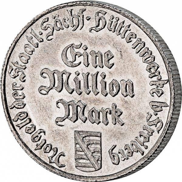 1 Million Mark Freiberg Sächsische Hüttenwerke 1923